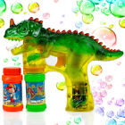 Dinosaur Bubble Gun with LED Flashing Lights and Dinosaur Sound Bubbles Blower