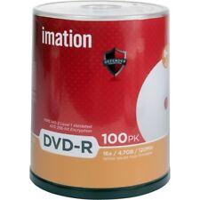 Imation DVD-R 4.7GB 16X White Thermal Hub Printable 100-Pack Cake Box