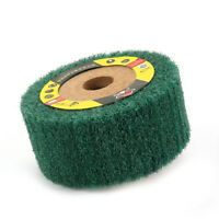 "4"" ~ 12"" Non-woven Flap Polishing Wheel Abrasive Remove Rust Green 180 Grit New"