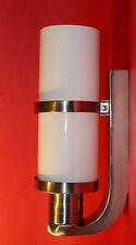 BAUHAUS WANDLAMPE Designleuchte Entwurf 1920 Opalglasröhre vernickelte Halterung