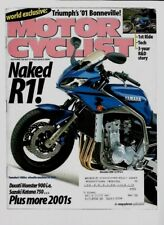 Motorcyclist Magazine November 2000- Triumph Bonneville, Ducati Monster 900