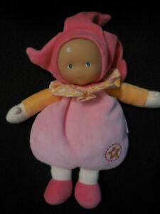 doudou peluche poupée babipouce lutin fille rose orange étoile COROLLE