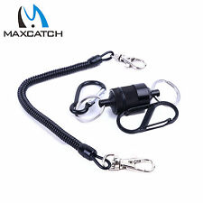 Landing Net Release Holder with Cord 5.5 LB Magnetic Carabiner Kit Fly Fishing