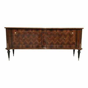 "1940s French Art Deco Exotic Macassar Ebony ""Zigzag"" Buffet / Sideboard."