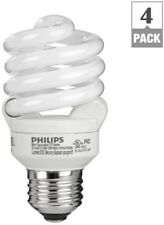 CFL Light Bulb 60W Equivalent Daylight 6500K Spiral T2 Indoor Fixtures (4-Pack)