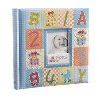 Blue Cute Baby shower Slip In Photo Album With Window, 200 6x4'' Photos CL-CB200