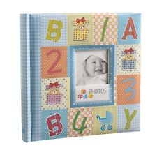 ARPAN Blue Cute Baby Slip in Case Photo Album With Window and 200 6x4 Photos -