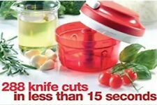 "Tupperware New Chop N Prep Chopper ""No Electricity"" Chili Red! Time Saver!"
