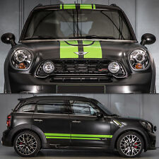 Decal Vinyl Hood Side Trunk Stripe Kit For Mini Countryman Cooper Door Headlight