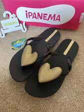 ipanema flip flops Womans Size 3 Black