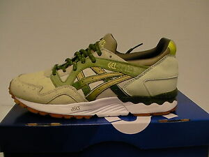 Mens Asics running shoes gel-lyte v size 9.5 us sand/cactus green new with box