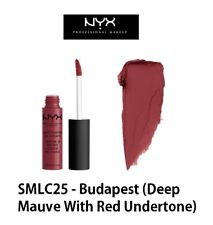 Authentic NYX Soft Matte Lip Cream-SMLC25Budapest(Deep Mauve With Red Undertone)