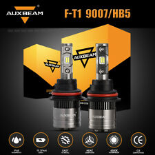 AUXBEAM 9007 LED Headlight 8000LM 70W Power CREE High Low Beam Canbus Bulb 6500K