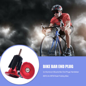 A1ST 2x Aluminum Bicycle Bar End Plugs for Mountain Road Folding Bike (Red)