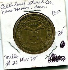1890's Celluloid Starch Company New Haven Connecticut Trade Token NHV25 5 Cents
