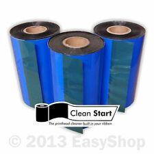 More details for 102mm x 300m black wax thermal transfer ribbon zebra label printer compatible