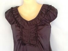 Ladies Dress Size 6 - Mix - As New Condition - Grey, Charcoal - Cotton - Ruching
