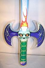 SKULL HEAD INFLATEABLE FLAME SWORD fighting midevil novelty toy play swords NEW