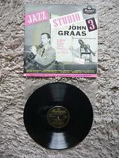 John graas JAZZ studio 3 ORIGINALE Brunswick LAT 8069 Vinile Record Gerry Mulligan
