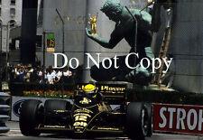 Ayrton Senna JPS Lotus Detroit GP 1986 photographie