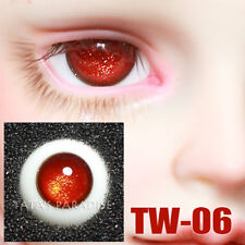 TATA glass eyes TW-06 14mm/16mm for BJD SD MSD 1/3 1/4 size doll use red
