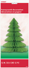 CHRISTMAS DECORATIONS 30cm HONEYCOMB TREES - 2 x TREES INCLUDED