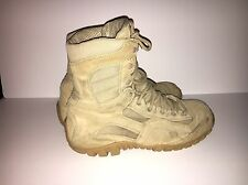 TACTICAL RESEARCH TR360 MENS KHYBER TAN LEATHER MOUNTAIN HYBRID BOOTS SIZE 9 W