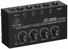 Behringer HA400 Microamp 4 Channel Stereo Headphone Amplifier