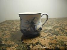 Authentic Marked Delft Blue D.A.I.C. Windmill Design Coffee/Tea Cup