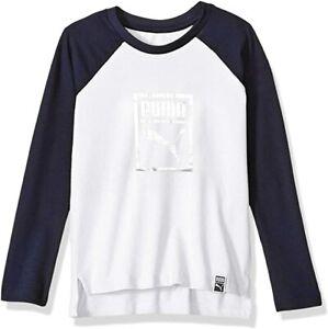 PUMA Big Boy's Long Sleeve Tee Shirt (Ages 7-18 Years)