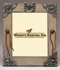 New! Western Picture Frame Barnwood Look  11-1/2 x 13-1/2 fits 8 x 10
