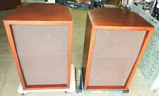 One Matching Pair JBL C34 In Mahogany Cabinets X'Overs Serial #602170 & 603170