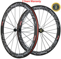 50mm 700C Carbon Wheels Road Bike Carbon Wheelset Clincher 23mm Wide Basalt line