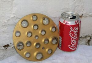 VINTAGE RECLAIMED CHANDELIER 5 ? ARM GOLD COLOURED METAL MOUNTING PLATE