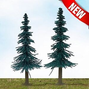 """MP Scenery Products 70823 - HO Scale - Scenic Blue Spruce Trees 4"""" to 6"""", 24/pk"""