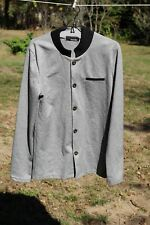 TheLEEs Mens Gray Knit Button Down Stretch Cardigan Sweater S M L Jacket Sweater
