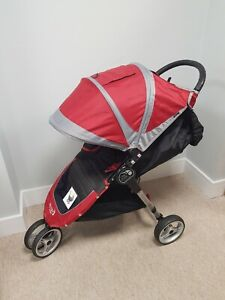 Baby Jogger City Mini SINGLE Red/Grey/Black Pushchair Stroller- good condition