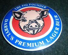 "Cool Darryl's Lager Beer ""The Pig Pounder"" Vintage Pinback Button"