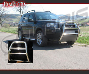 LAND ROVER FREELANDER 04-06 BULL BAR WITHOUT AXLE BARS +GRATIS!! STAINLESS STEEL