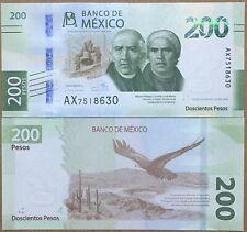 Mexico 200 Pesos, New Design PREFIX AX, 2019, Hidalgo-Morelos, Eagle. UNC
