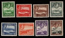 Antigua 1938 1951 King George VI short set to 1/- SG98-105 Mint MH see note