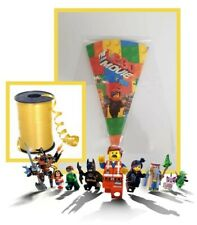 10 pack LEGO MOVIE DIY/party bags/sweet cones/kit/supplies birthday boys girls