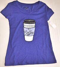 Women's Powered By Coffee Large Joe Boxer Shirt NEW Juniors