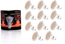 11X GU10 LED Lampe von Seitronic mit 3,5 Watt, 300LM und 60 LEDs Warm weiß 2900K
