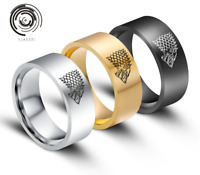 ZONE/ Man's Stainless Steel Ring Game of Thrones Wolf Titanium Steel Rings/AU