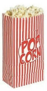 10 PACK POPCORN PAPER BAGS PARTY RETRO MOVIE FILM NIGHT STYLE TREATS