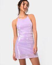 25430844 MOTEL ROCKS Hedi Dress in Matte Mini Sequin Lilac Size Small S (mr32)