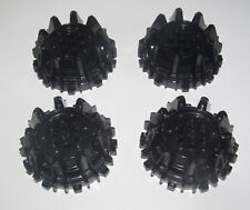 Lego ® Lot x4 Roue Dentelée Power Miners Black Wheel 8x8 with Spurs 64712 NEW