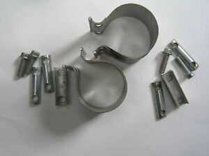 "MACK 11ME229 3"" EXHAUST CLAMP ""NEW"" ""OEM"" SET OF TWO (2)"