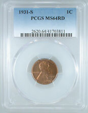 1931-S Lincoln Cent MS-64 RD PCGS Certified
